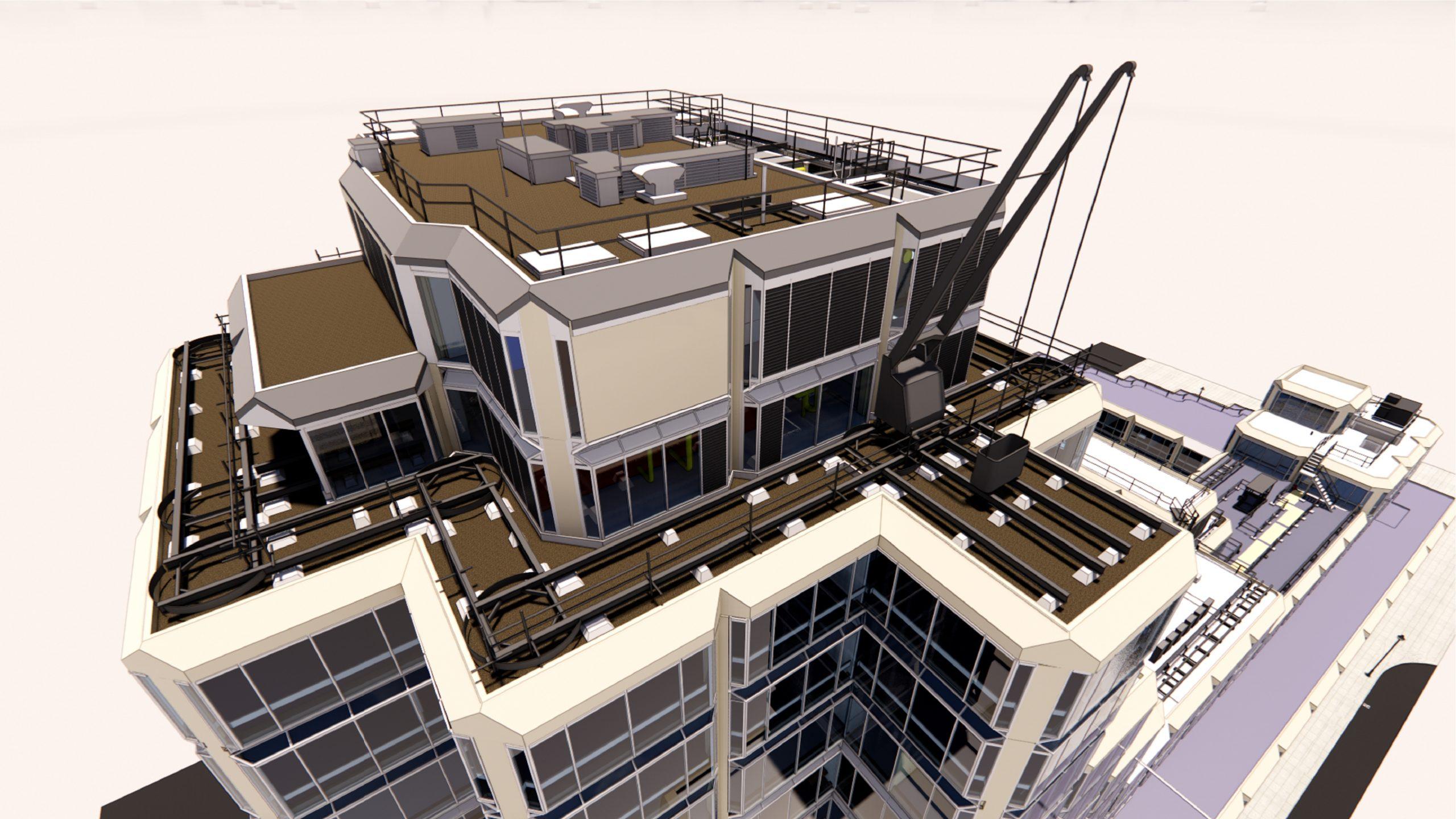 John Lewis Headquarters detail rendering