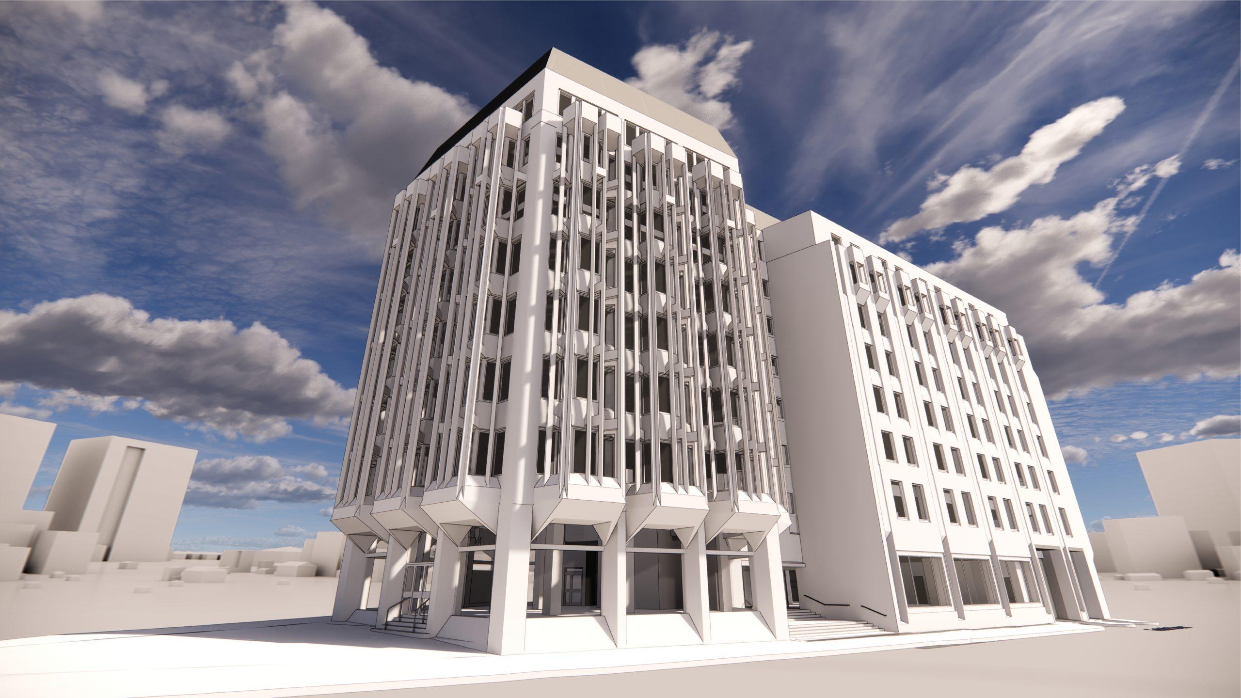 4 Victoria Street, 3D rendering, side view