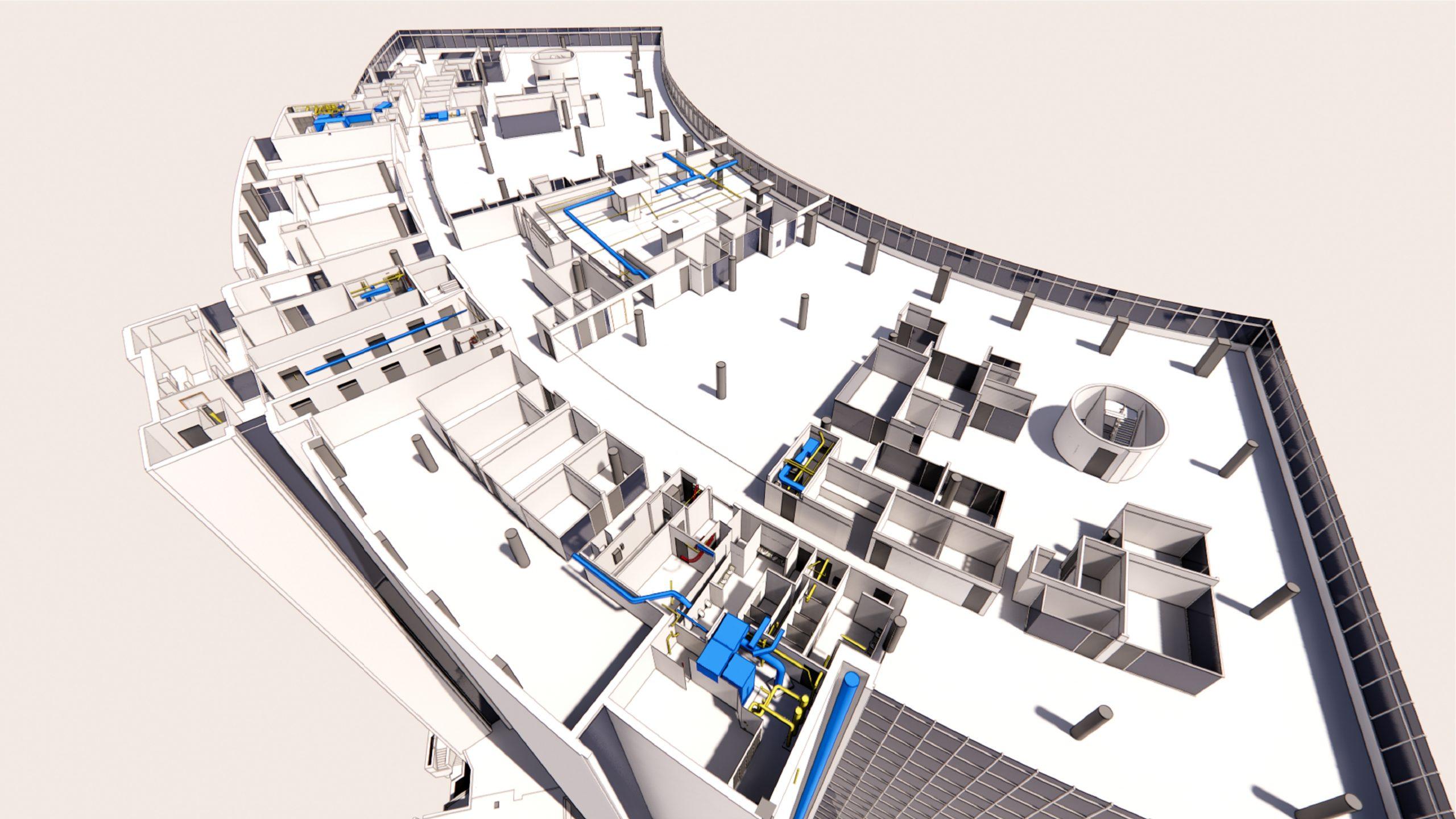 3D rendering, Inside of 700 University Avenue, Toronto