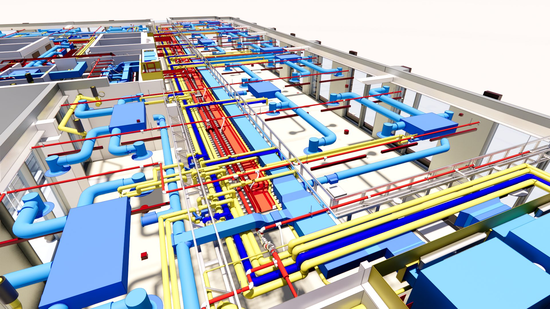Rendering of pipes from above