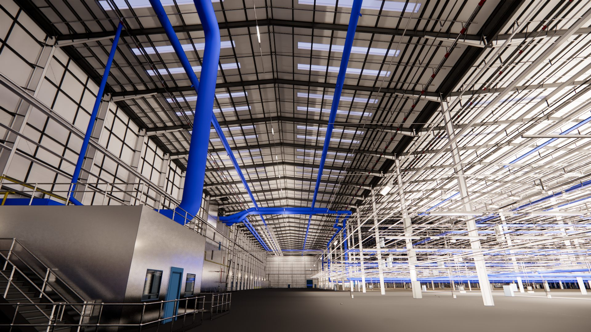 inside of H&M Distribution Warehouse