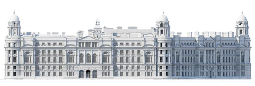 3D rendering of impressive old building