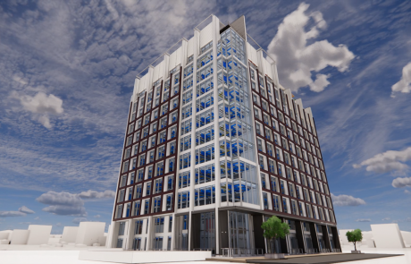 Rendering of building outside