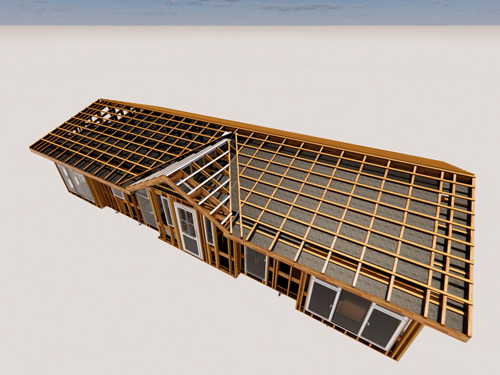 Rendering of Roof construction, Prefabricated Park Home, Stately Albion