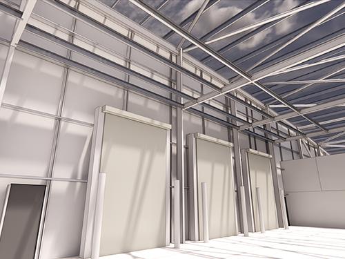 Rendering of warehouse doors