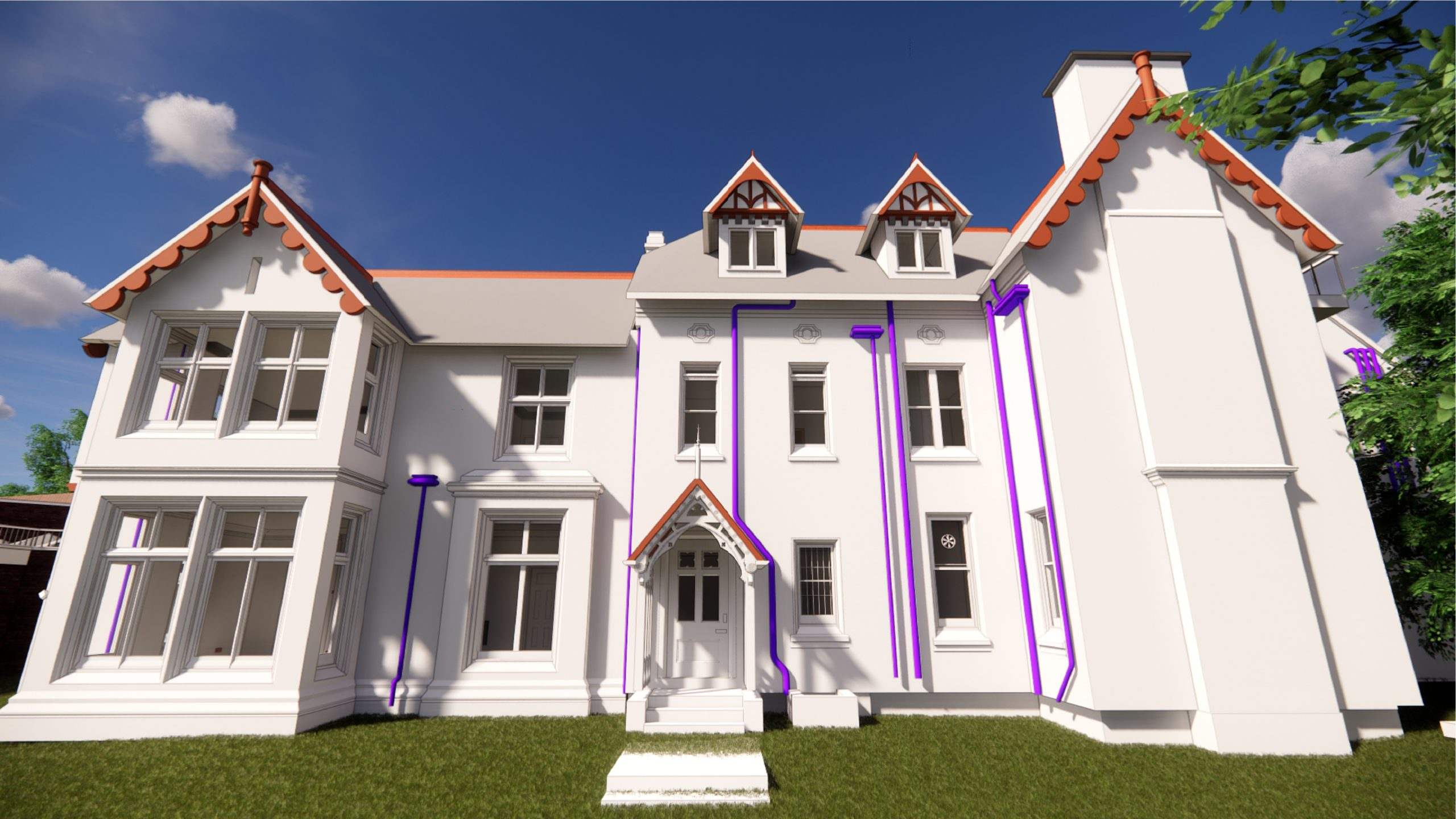 Leicester University 3d rendering with utilities