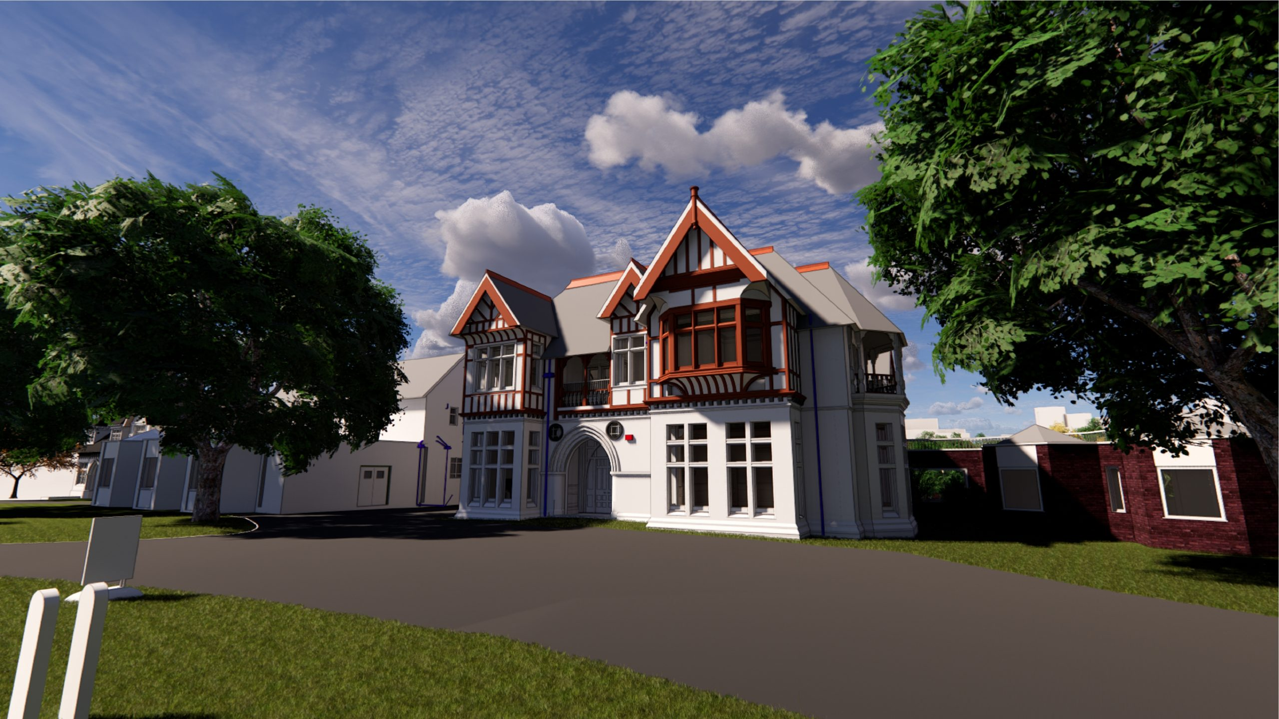 Leicester University Rendering 3D detached house