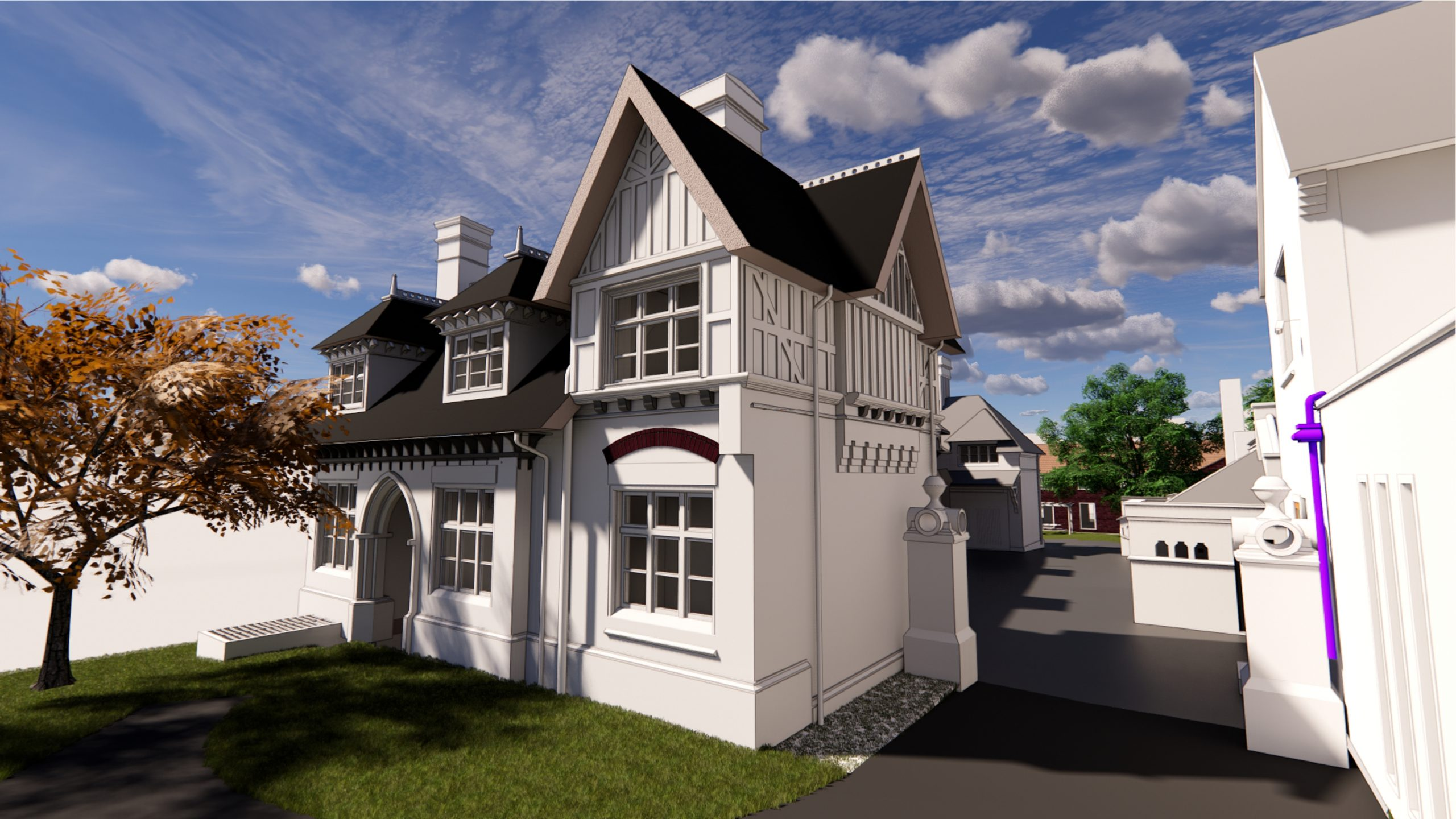 Leicester University, Rendering 3D, detached house