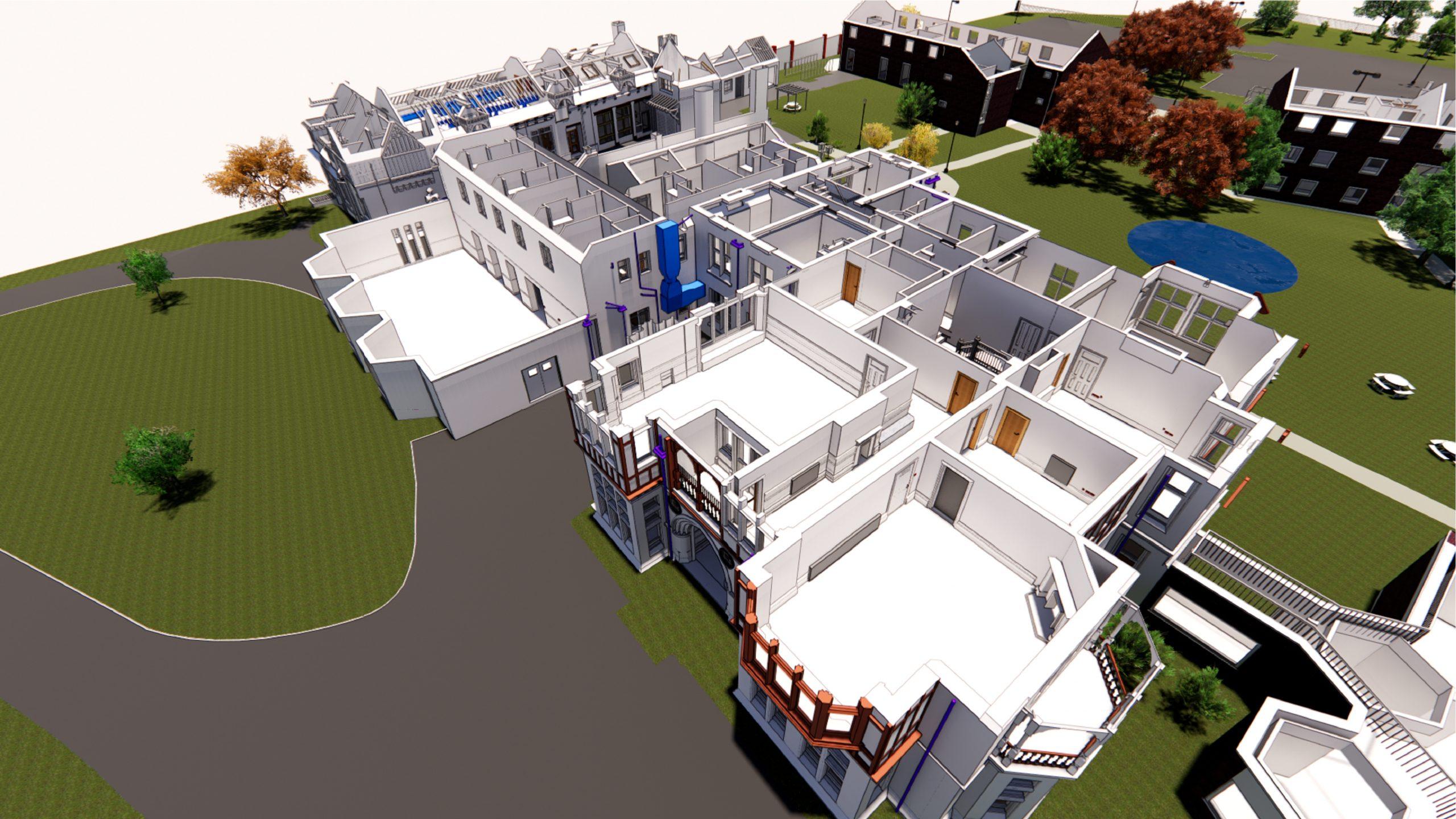 Leicester University, Rendering 3D