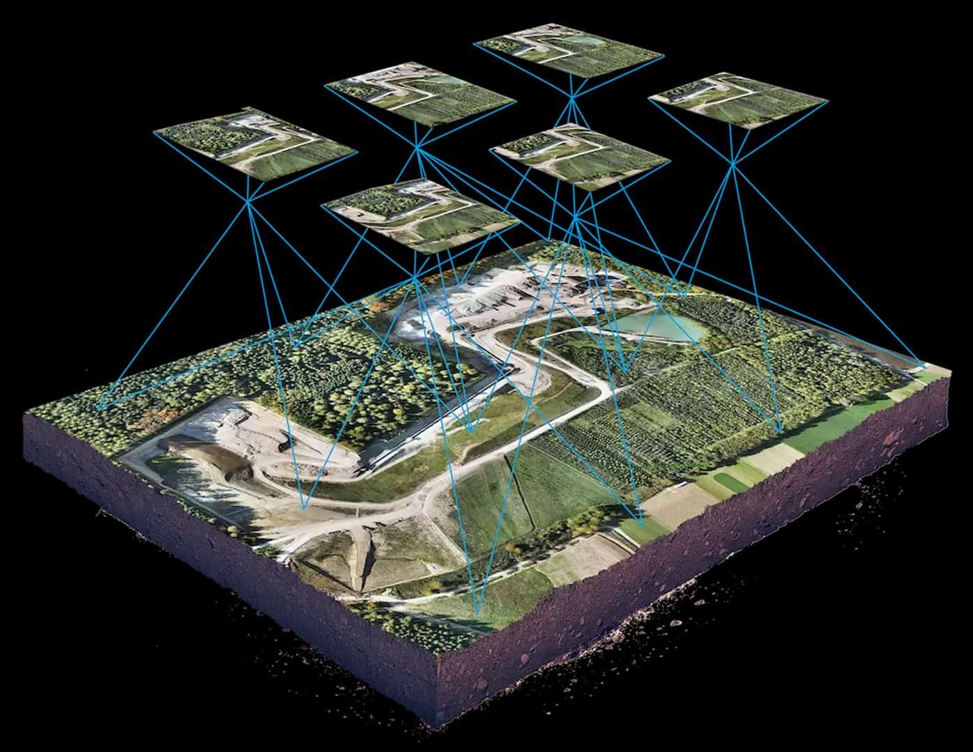 3D image explaining how photogrammetry works