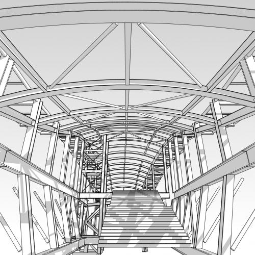 3D of Crossrail Station Concourse Whitechapel