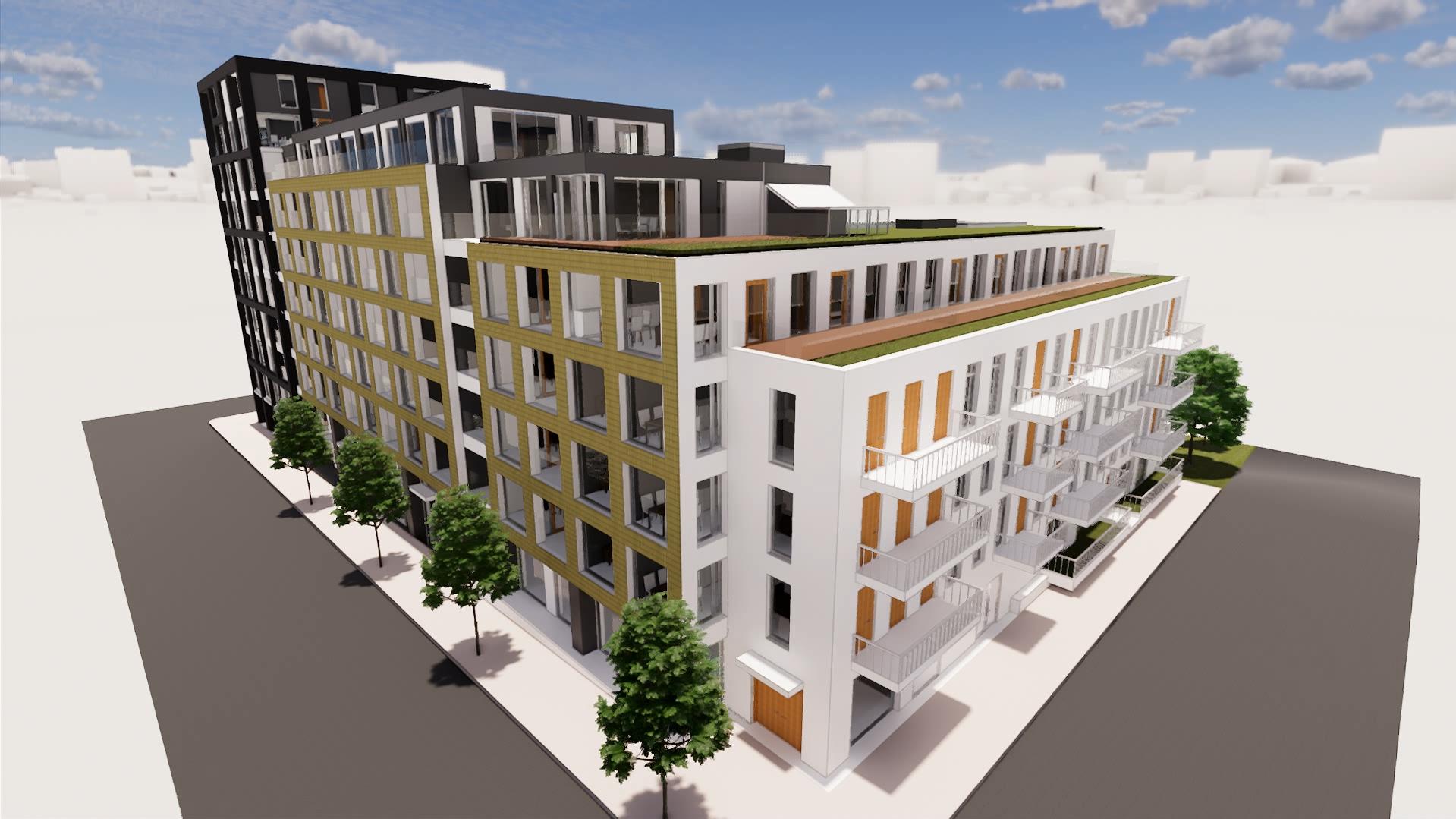 Street view model of Kings Cross Quarter, London