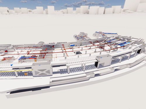 Rendering International Terminal, Waterloo, platforms