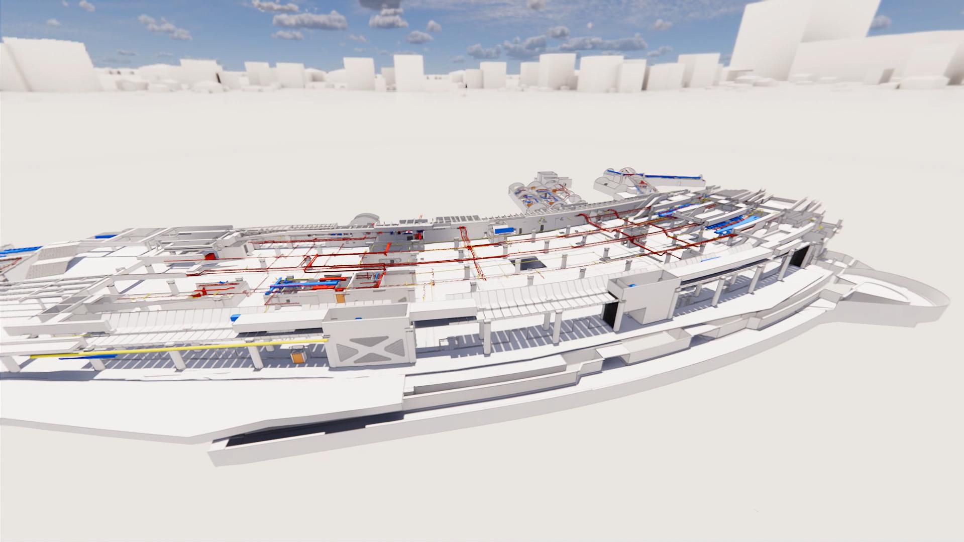 Rendering International Terminal, Waterloo, Utilities platforms