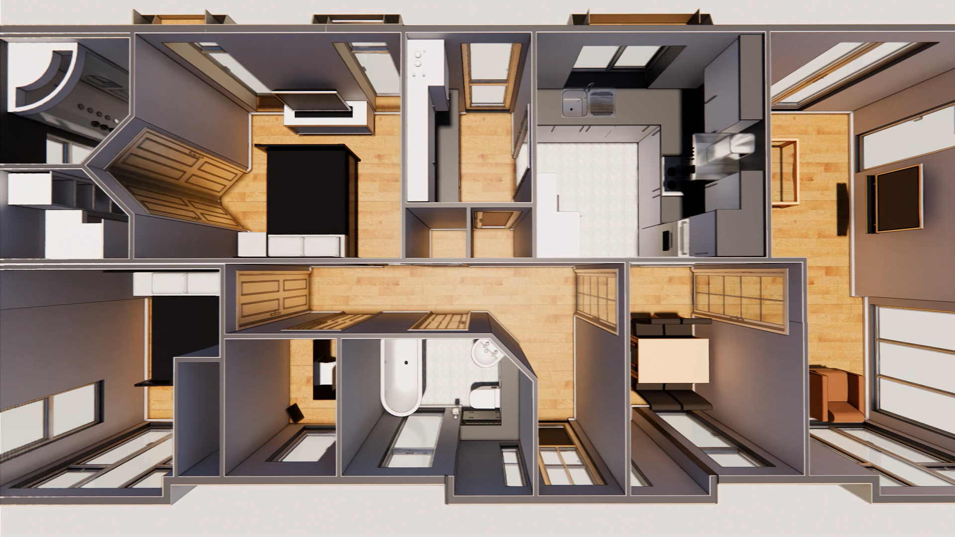 Top view, Prefabricated Park Home, Stately Albion