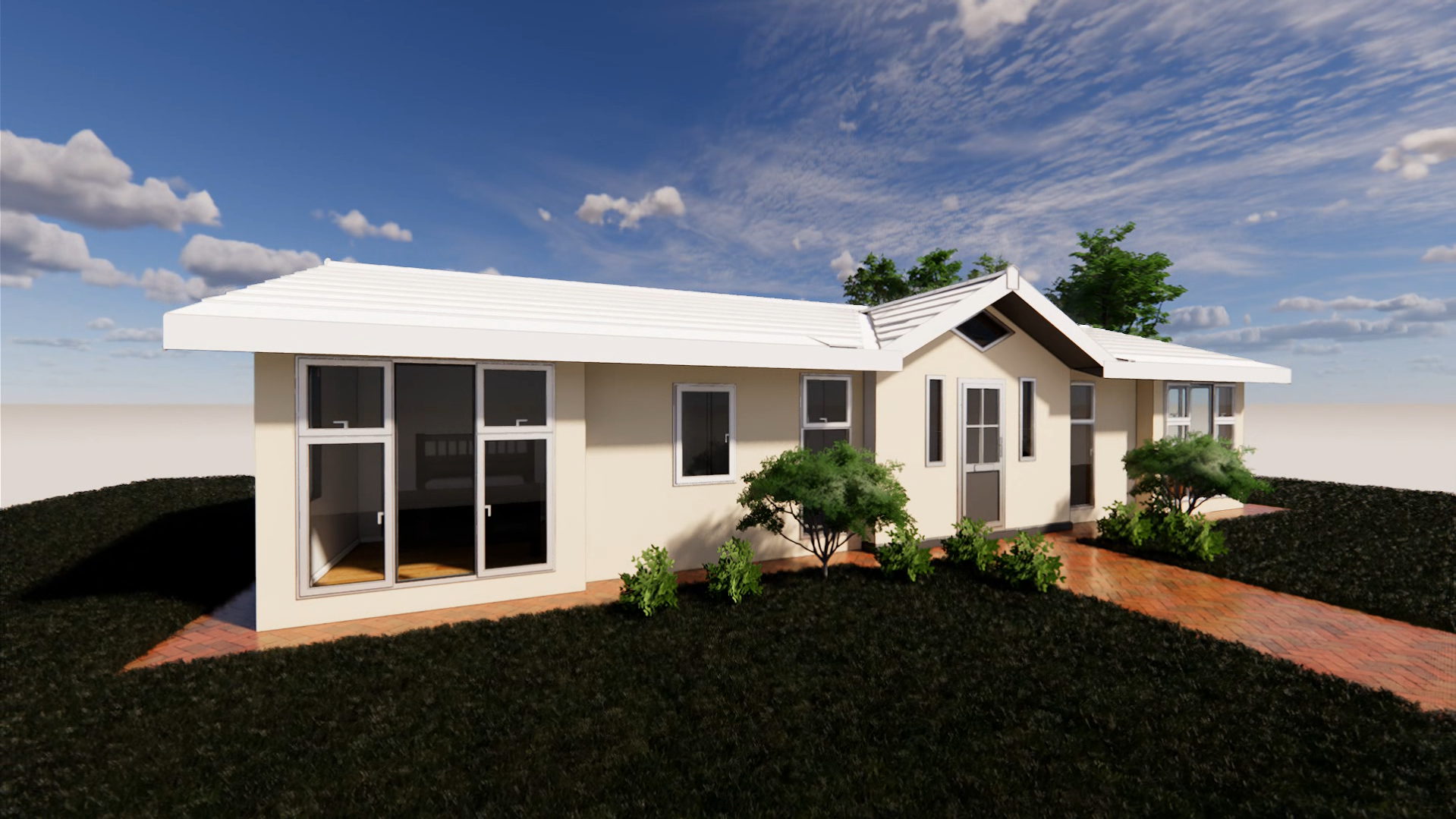 3D rendering of outside view – Prefabricated Park Home, Stately Albion