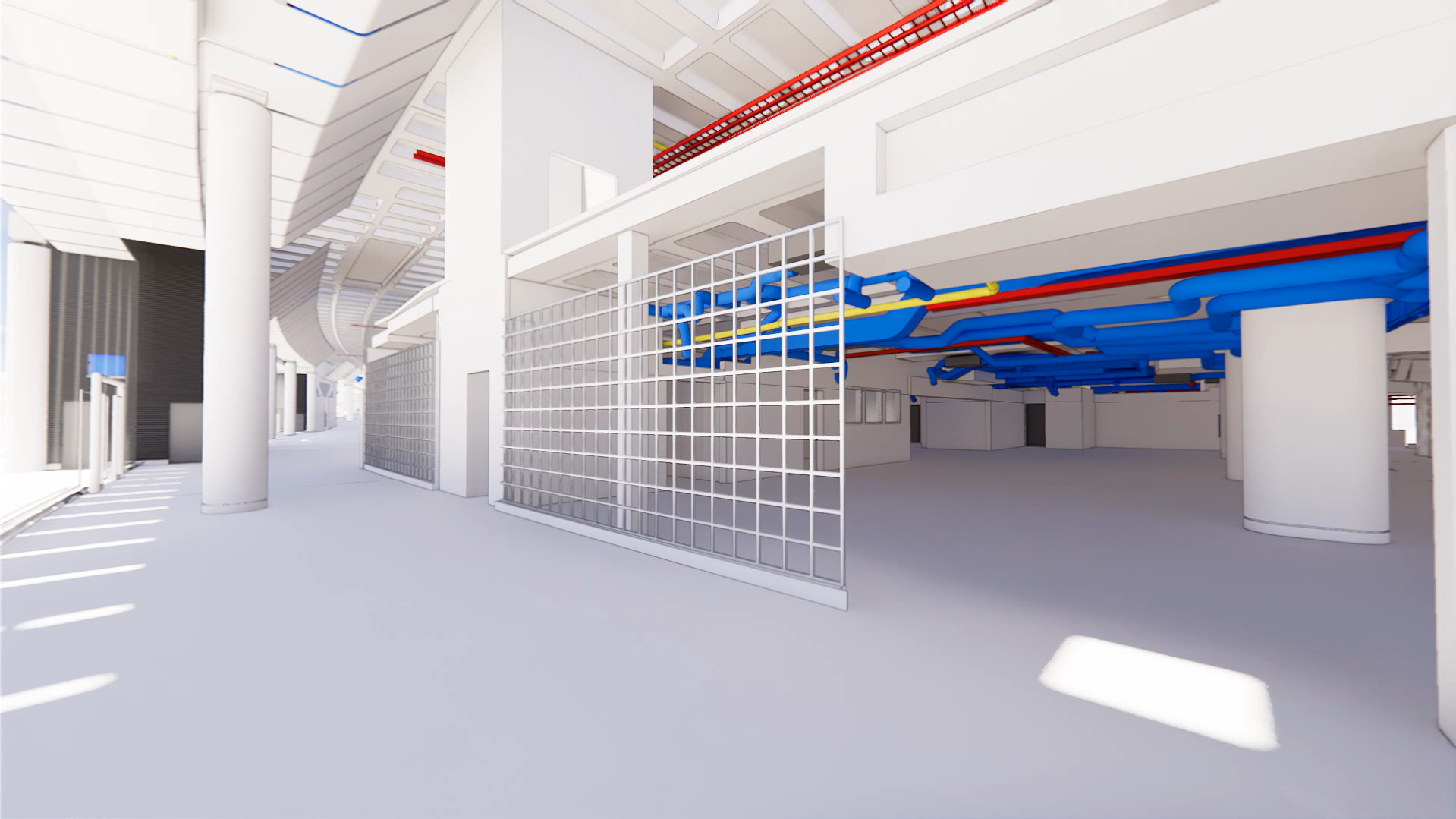 Rendering International Terminal, Waterloo, Utilities