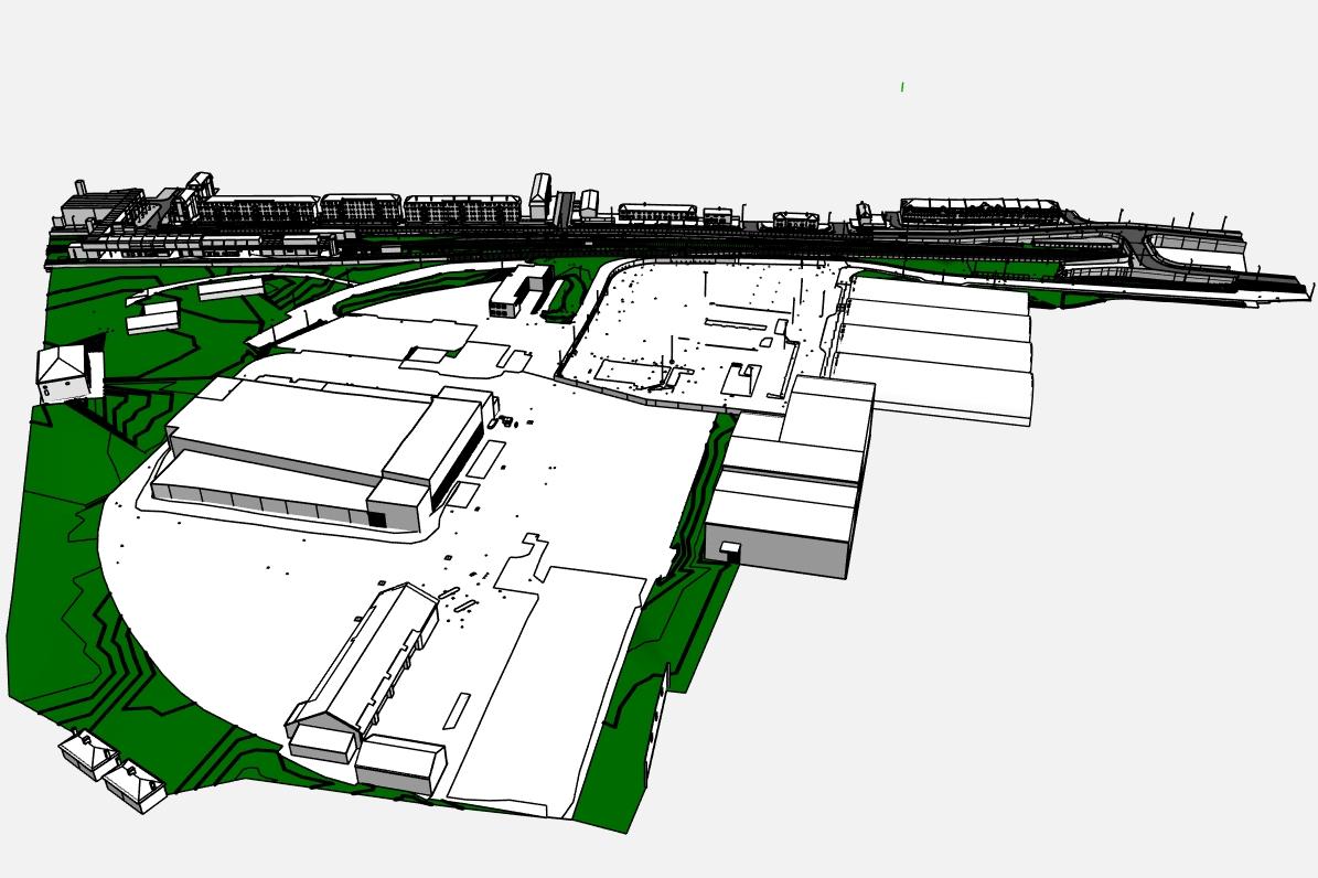 Stephenson Street Masterplan from above