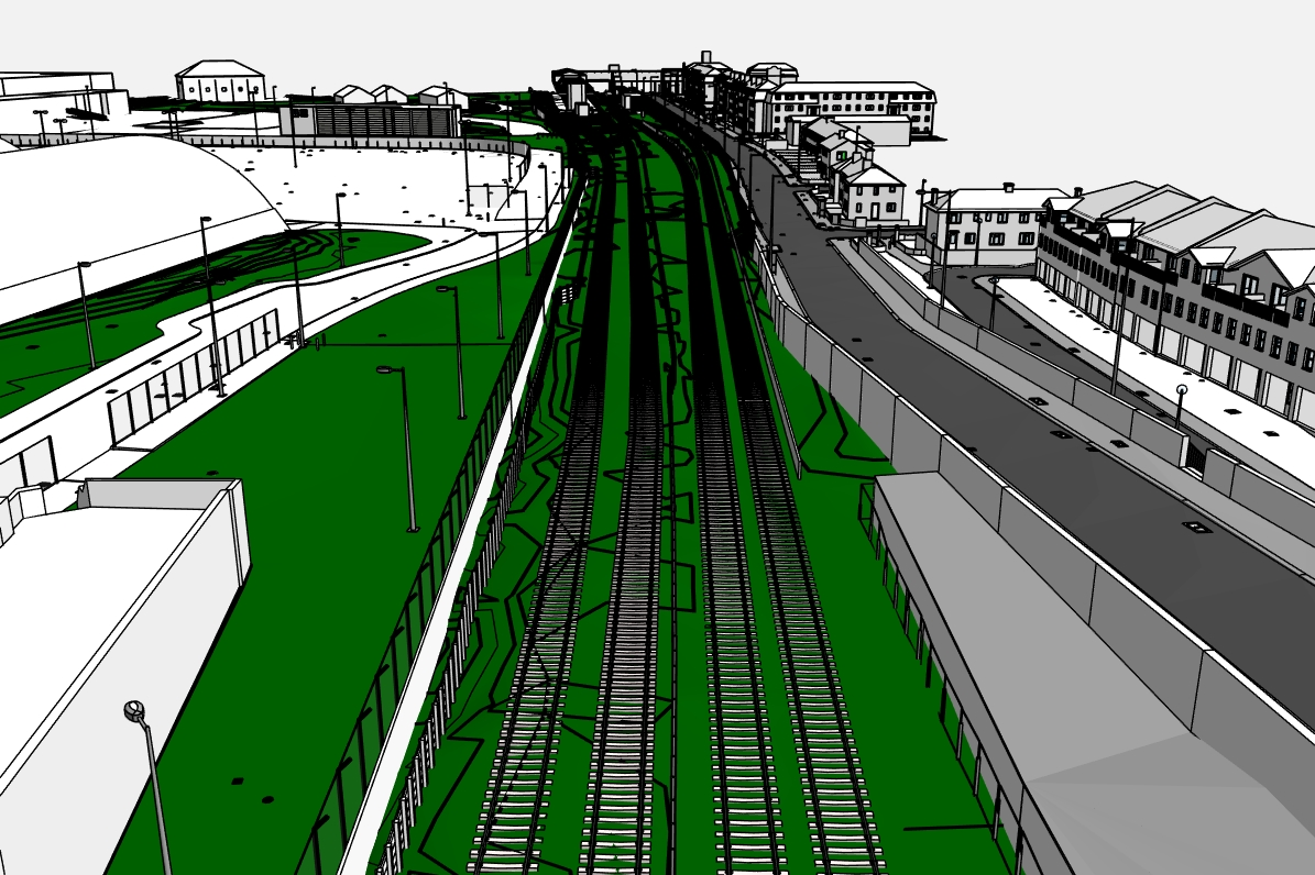 Stephenson Street Masterplan rail tracks