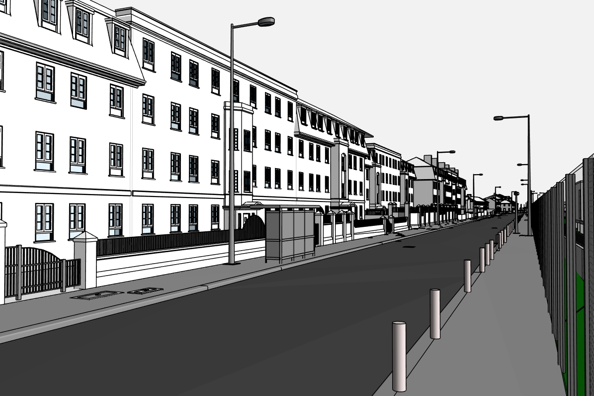 Stephenson Street Masterplan street with bus stop