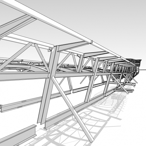 3D view of Crossrail Station Concourse Whitechapel
