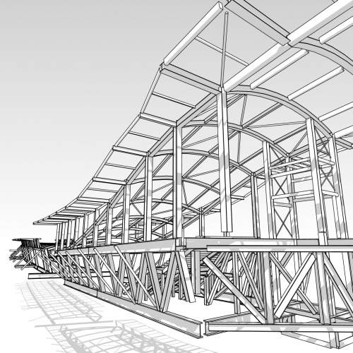 3D rendering of Crossrail Station Concourse Whitechapel