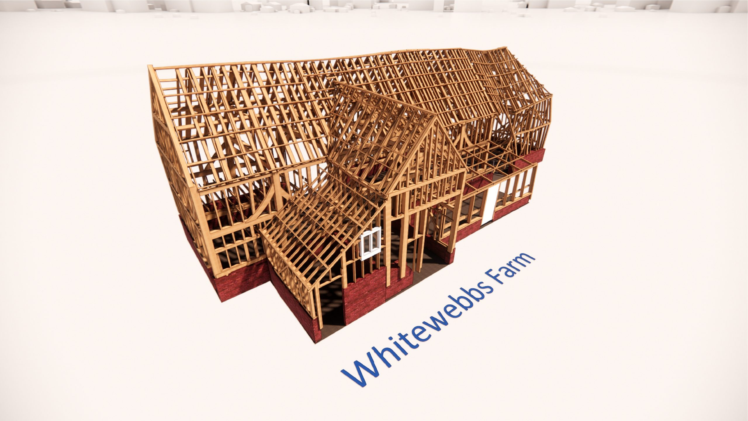 Rendering of Whitewebbs Farm construction